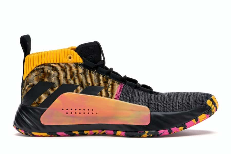 adidas Dame 5 Core Black Shock Pink