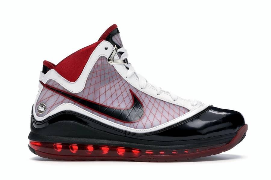 Nike LeBron 7 White/Black-Varsity Red