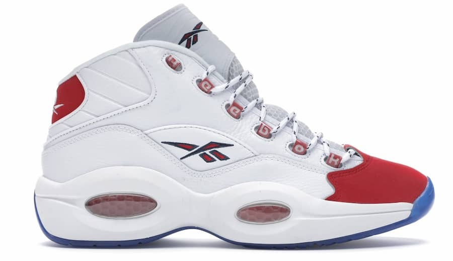 Reebok Question Mid Red Toe 25th Anniversary