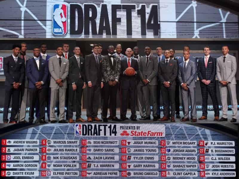 NBAドラフト2014 集合写真