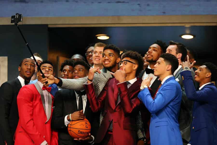 NBAドラフト2015 セルフィー