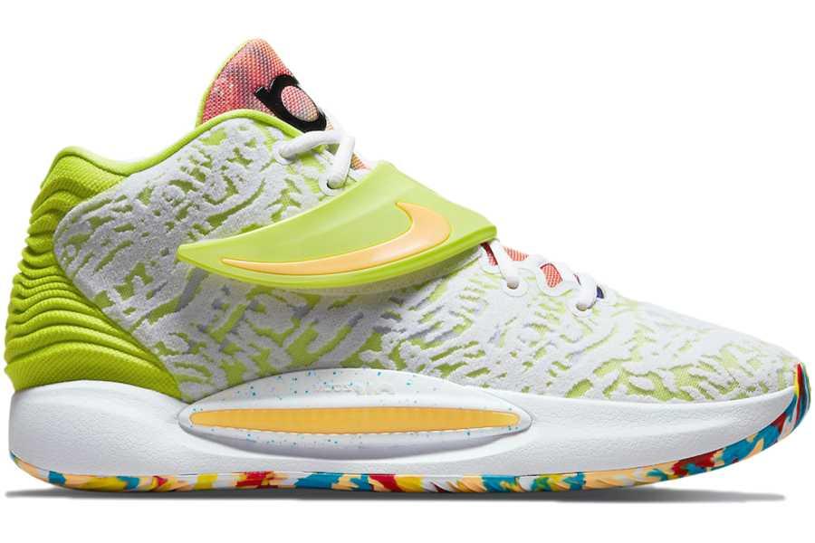Nike KD 14 White Lime Green